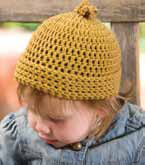 The Baby Bear's Backup Hat is a quick and easy double stitch baby crochet pattern.