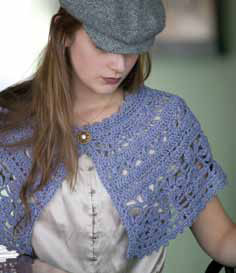 The Chanson en Crochet by Mari Lynn Patrick is a stunning capelet that is very simple to crochet for beginners.
