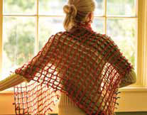 The Waffle Lattice Shawl is not only striking but can be completed very quickly with step-by-step directions given in the 5 Free Shawl Patterns eBook.