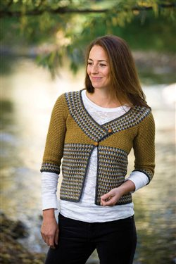 This crochet cardigan is a brilliant use of easy crochet colorowrk.