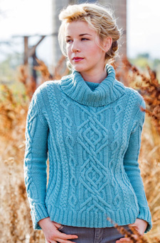 What gorgeous cable work! The Braided Brook Pullover is one of the most beautiful knit sweaters I've ever seen.