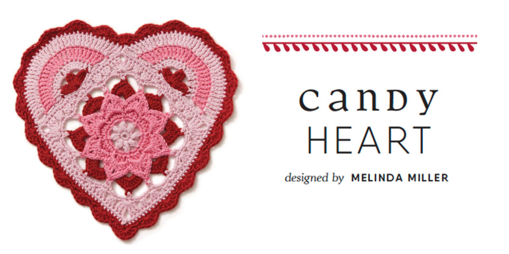 A Candy Heart in Crochet: It Works Up Quick!