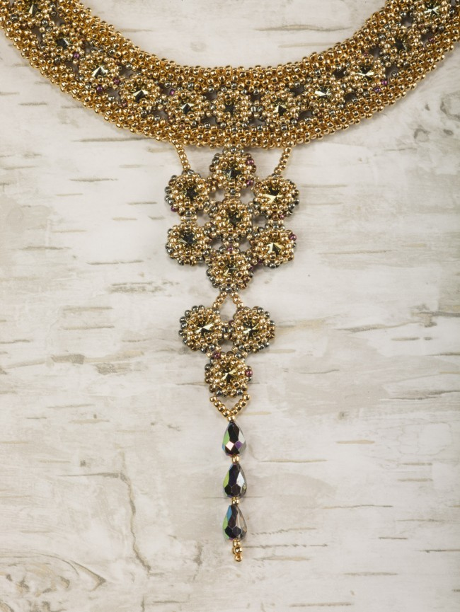 18 Luxurious Beaded Jewelry Designs with a Vintage Flair. Captured Crystals Choker
