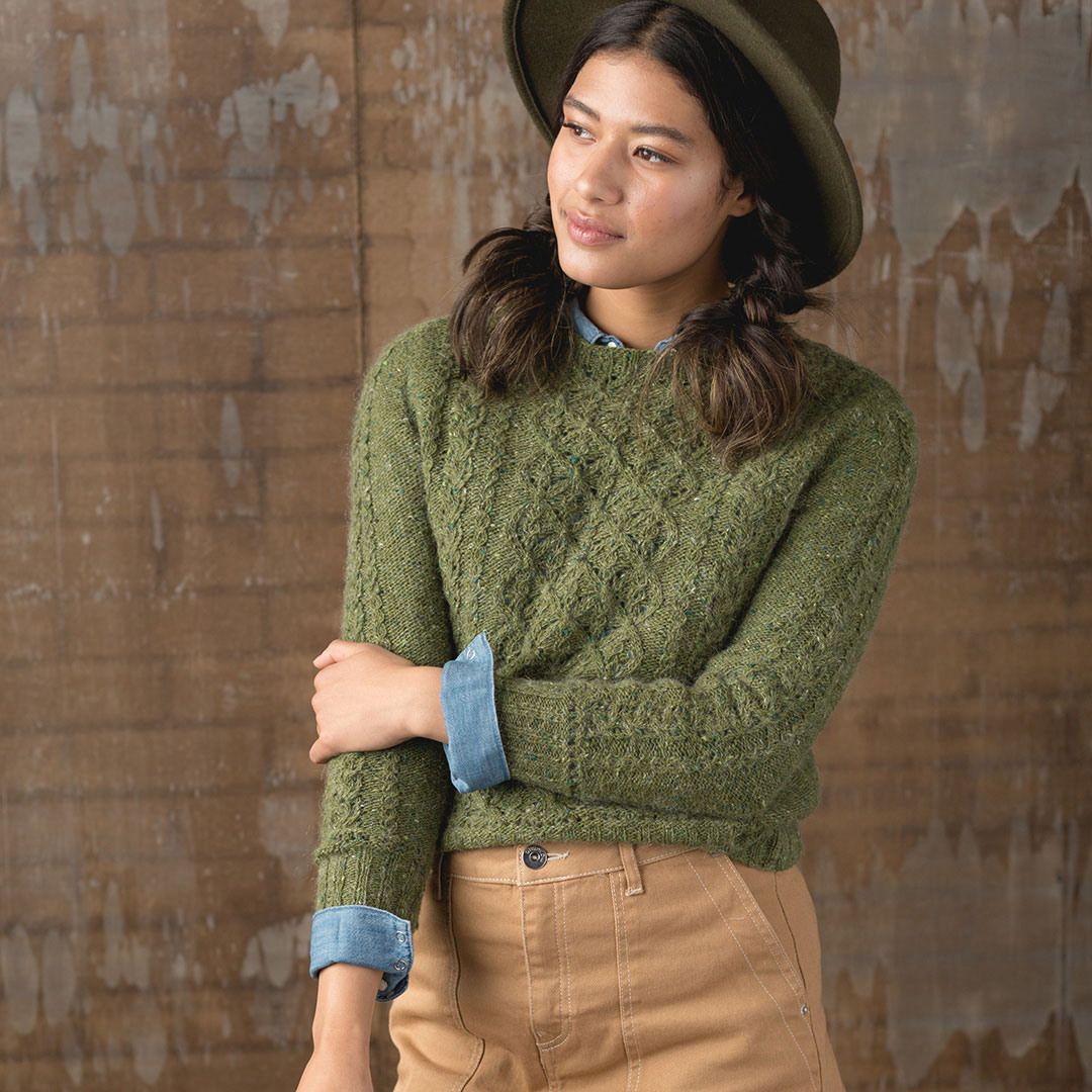 The Caramel Apple Pullover is an adorable sweater knitting pattern for fall from Interweave Knits.