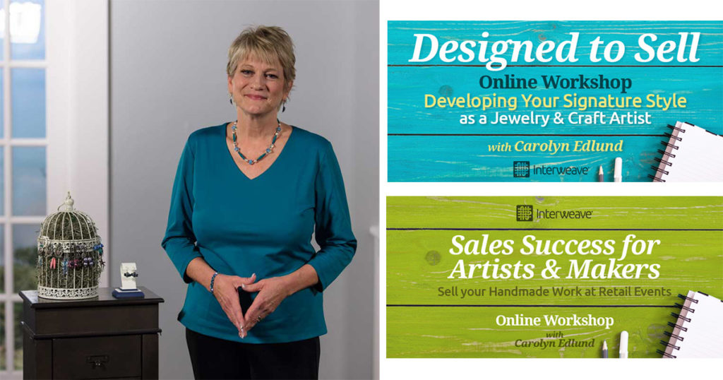 how to sell jewelry online courses with Carolyn Edlund jewelry business