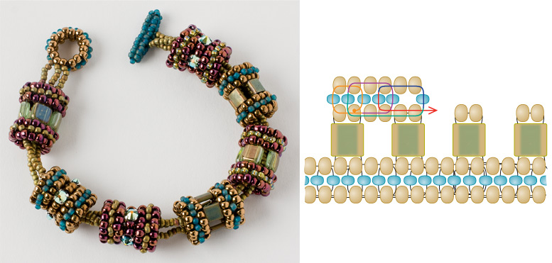 5 Beaded Jewelry Components You Need in Your Arsenal. The Carousel bracelet makes great use of a tube bead component.