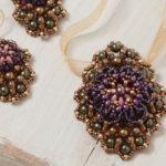 Earring Variation of Carolyn Cave's Beaded Trinity Pendant