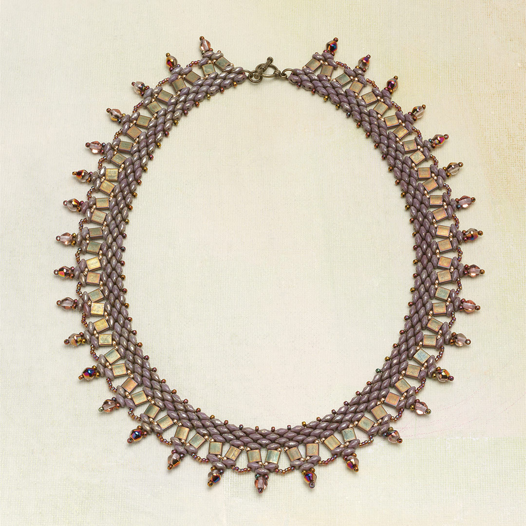 Cleopatra's Collar by Svetlana hearkens way, way back to the broad collars of Ancient Egypt.