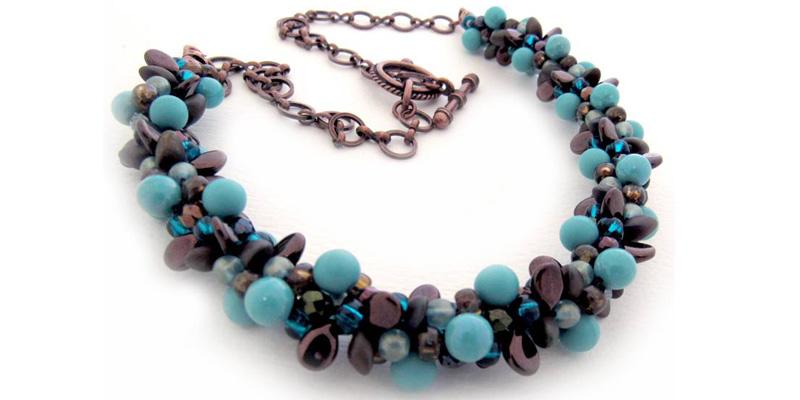 Beadwork Feb/Mar 2017 issue filled with on-trend and fabulous beadweaving designs. Seven-strand bracelet by Beadwork Designer of Jann Christiansen.