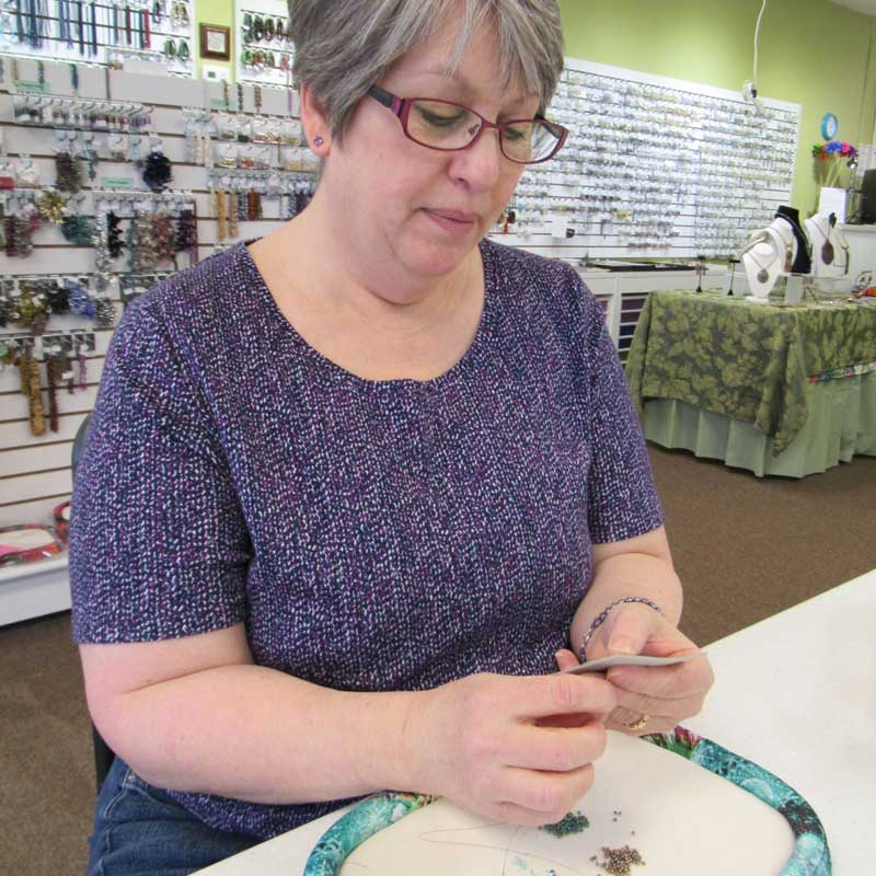 #StudioSunday, in the studio with Jann Christiansen, beadweaving designer and instructor