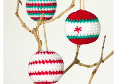 Crocheted Christmas baubles pattern.