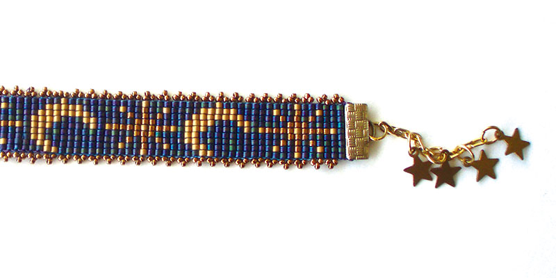 Sheilah Cleary bracelet design from Beadwork magazine
