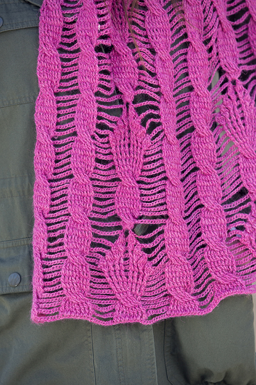 Details of the Cables in the Clematis Shawl Crochet Pattern