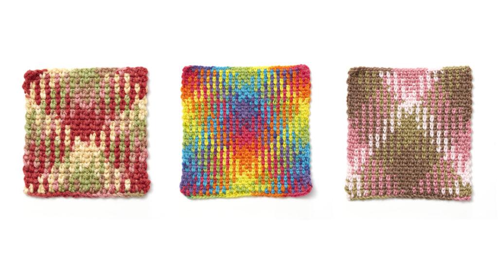 Color Pooling 101 Argyle Print Interweave