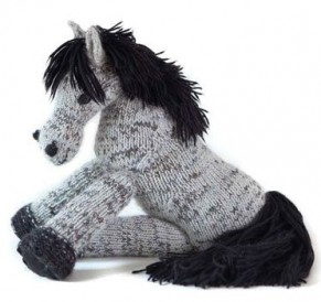 Learn how to make this Connemara Pony toy found in our FREE eBook on knitted toys.