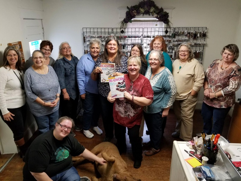 Kathy Cook is published in both Beadwork and Quick + Easy Beadwork issues - time for a beading party!