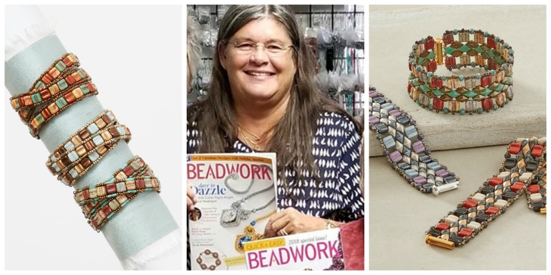A Beading Party to Celebrate Kathy Cook Getting Published in <em>Beadwork</em>