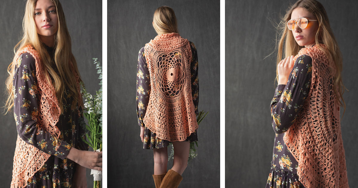 Project of the Week: Coral Ranunculus Vest | Interweave