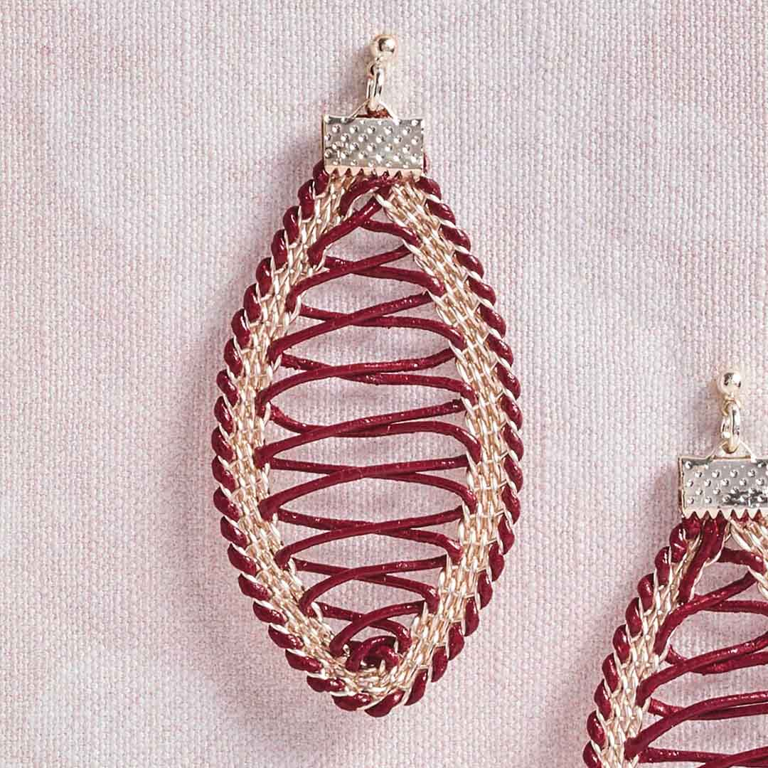 Kumihimo Wirework Made Easy: Corset Earrings