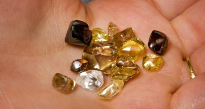 At Crater of Diamonds, you can find white, yellow and brown diamonds. Photo courtesy Arkansas Department of Parks and Tourism.