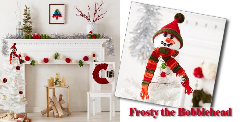 Crochet Snowman Ornament: Meet Frosty the Bobblehead