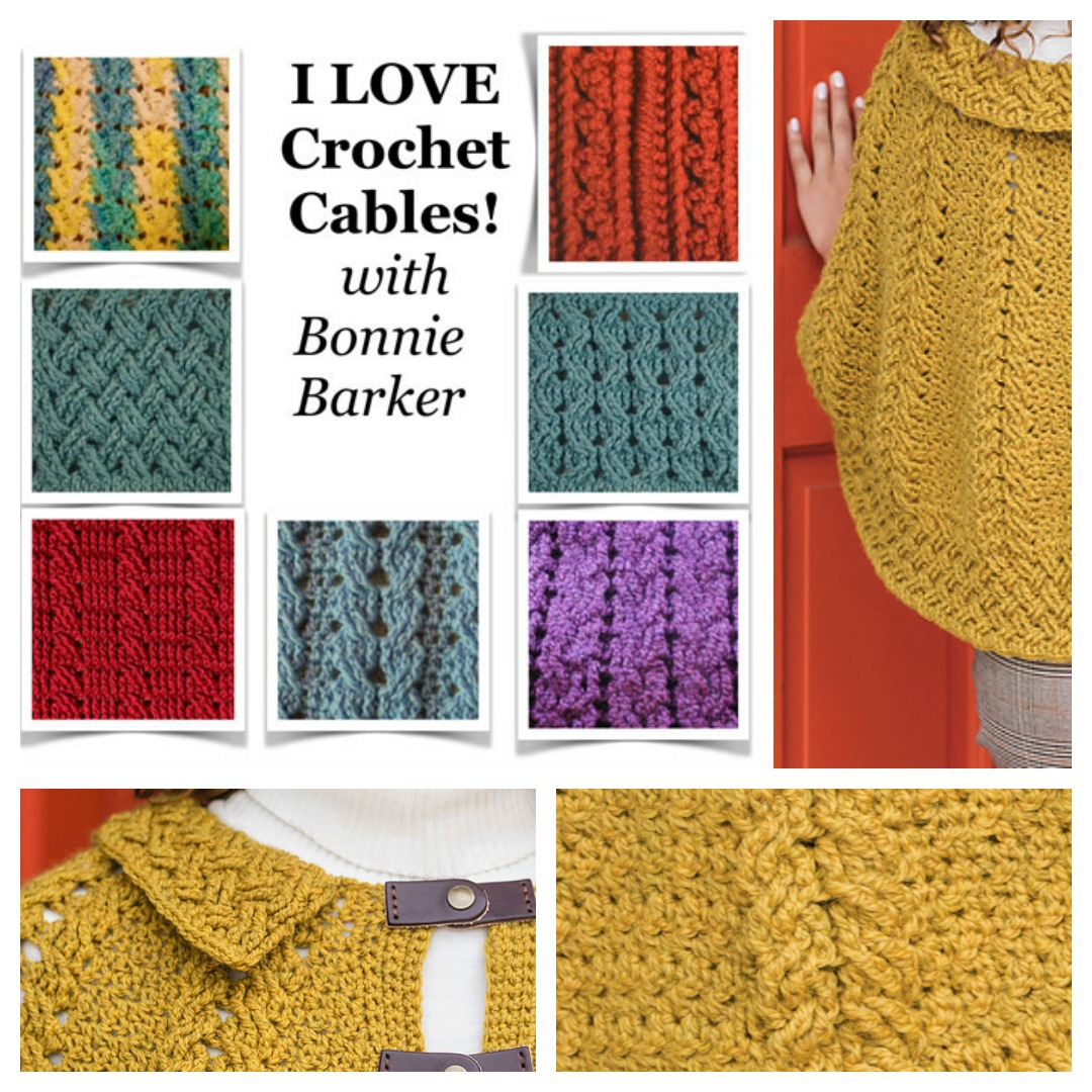 Learn how to crochet a variety of different crochet cables with Bonnie Barker at Yarn Fest. You'll be ready to tackle any crochet cable and start incorporating crochet cables into your designs.