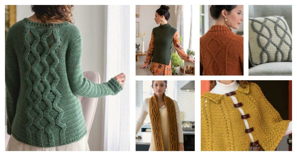 crochet cables projects from Interweave Crochet Fall 2019
