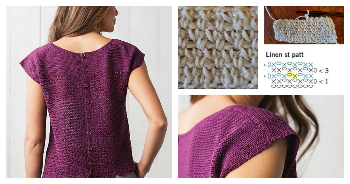 crochet linen stitch