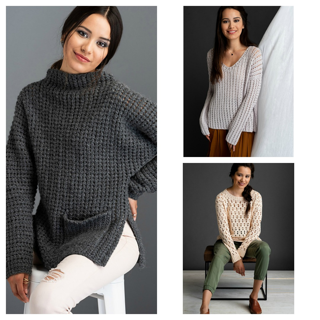 seaming crochet sweaters from The Crochetist