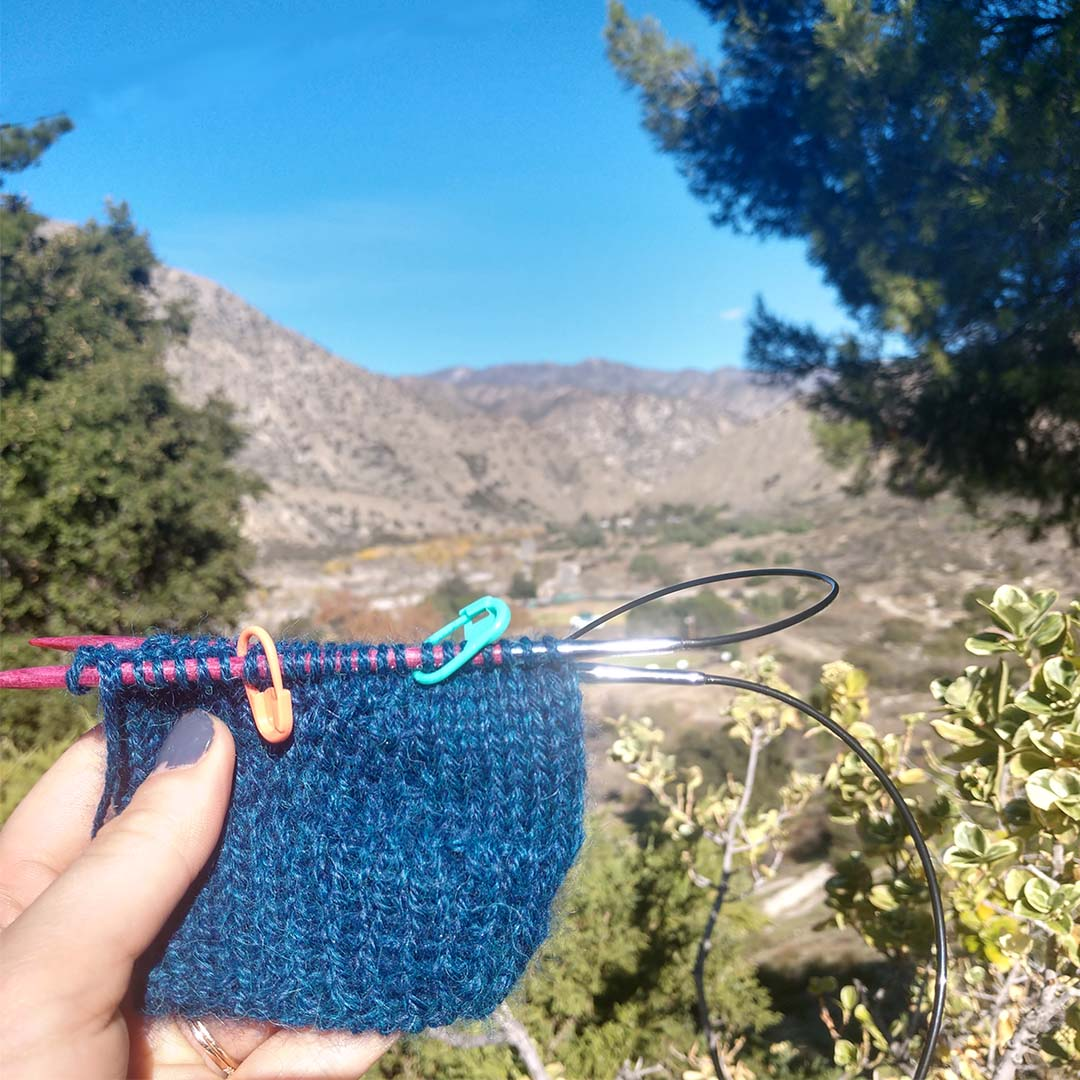 Can't tell what's more awesome: finally starting my Cuff to Cuff Socks, or getting to knit them with this view in the background.