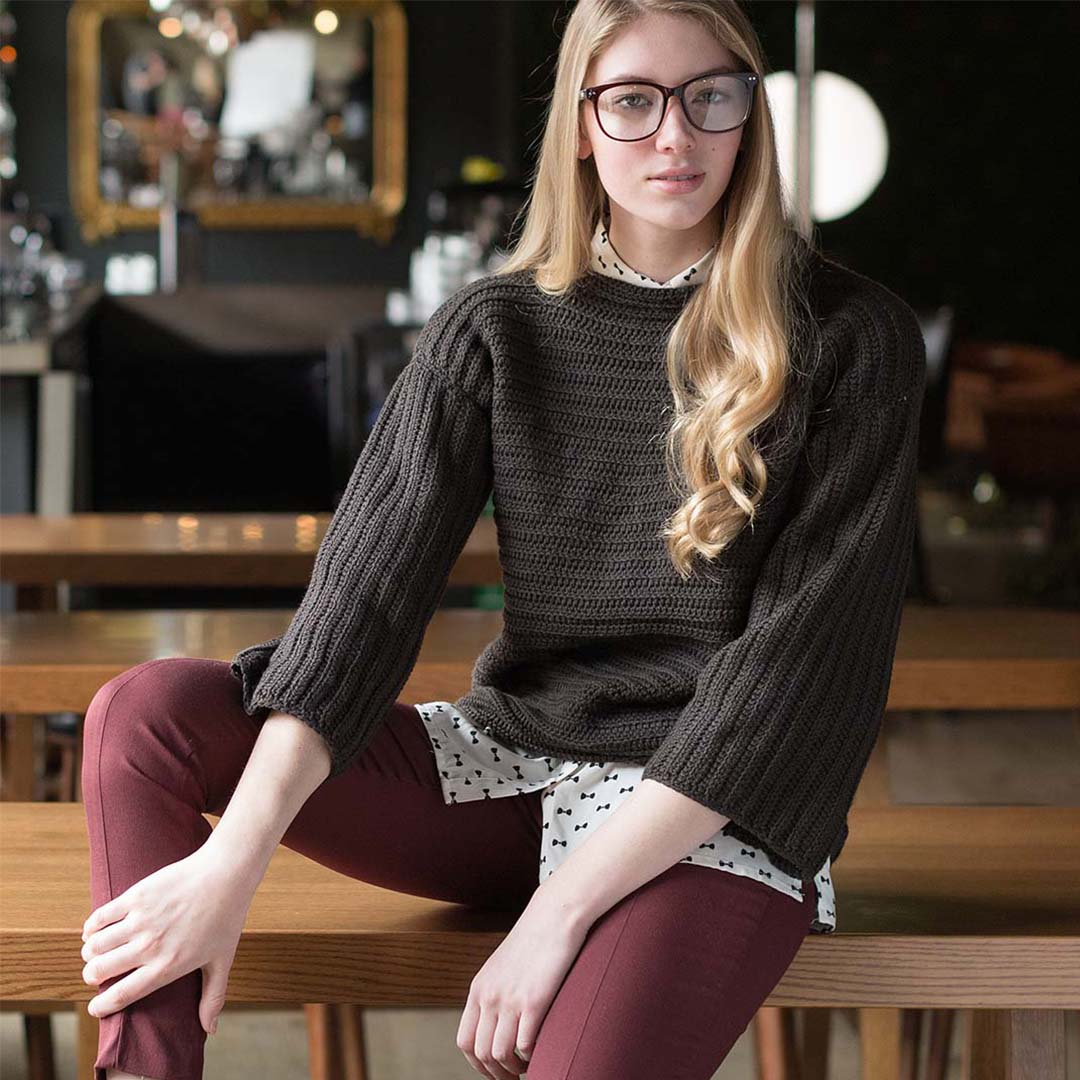 Cultivated Pullover from <em>Interweave Crochet</em> Fall 2018 | Photo Credit: Harper Point Photography