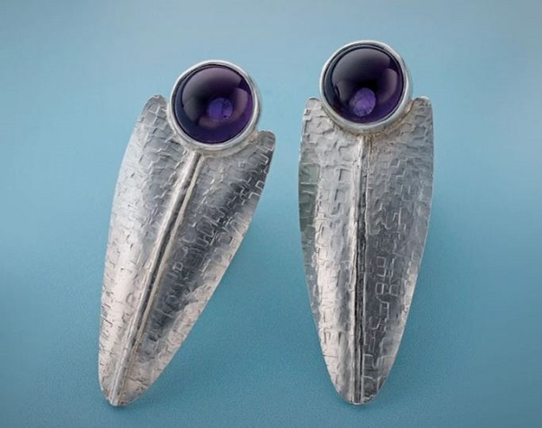 learn to make these Argentium sterling silver earrings with Cynthia Eid