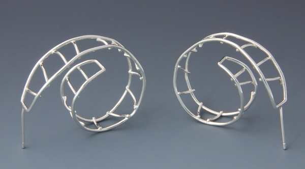 how to fuse Argentium sterling silver and make Argentium wire earrings