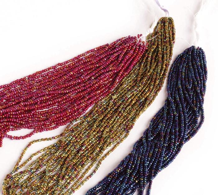 Czech seed beads on hanks