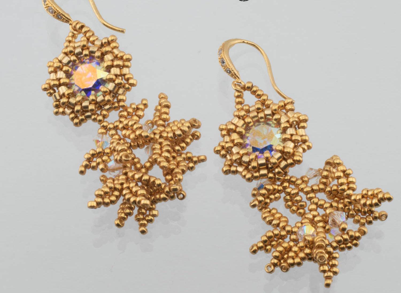 Bezeled Earrings by Diane Dennis
