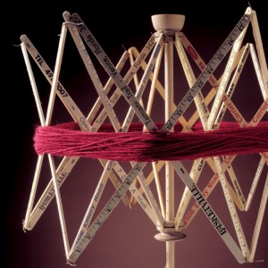 Learn how to make your own DIY yarn swift in this free eBook on DIY spinning equipment.