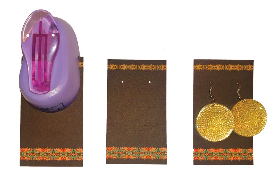make earring cards to display and sell earrings