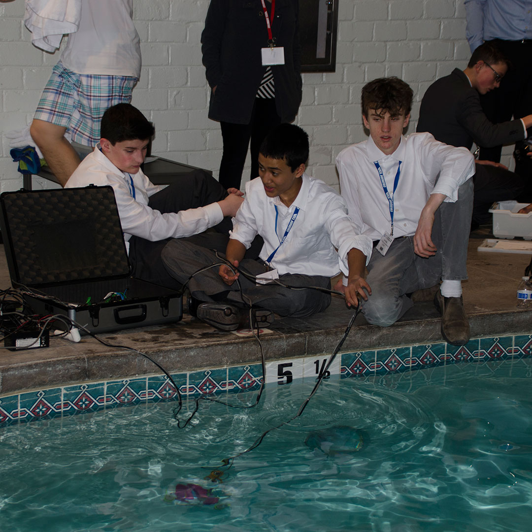 Students compete in an underwater ROV challenge at the Colorado TSA State Conference. Photo courtesy of Colorado TSA.
