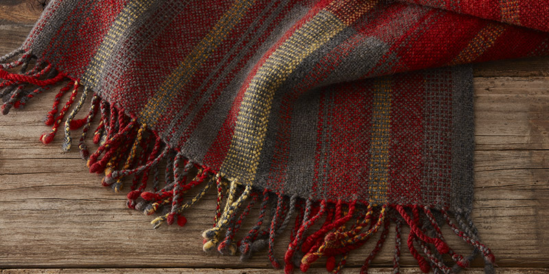 How to Design in the Reed: Doublewidth Harrisville Blanket