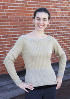 Knitting Gallery - Dainty Pinstripes Pullover Annie