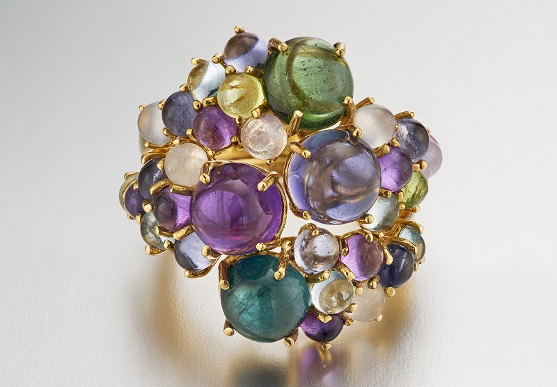 Dagny stacking rings by Dara de Koning gemstone jewelry