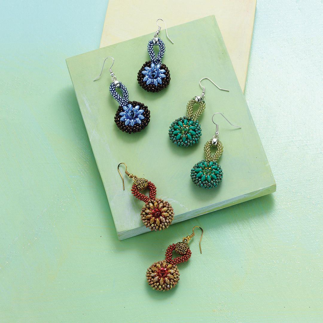 Captured Kumihimo Earrings by Sonia Davis