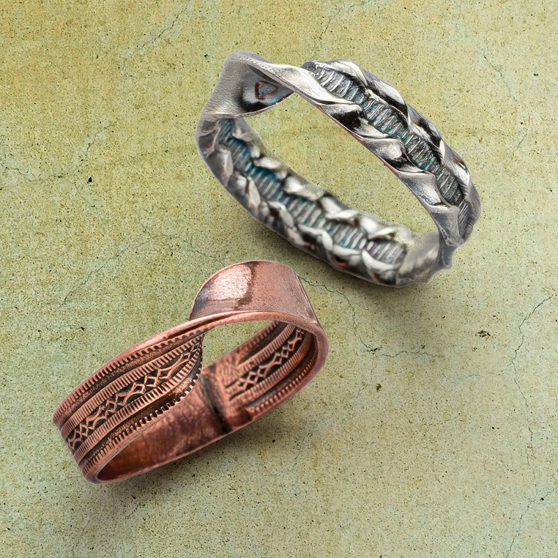 wire jewelry making: Inside Out Mobius Patterned Wire Ring by Denise Peck