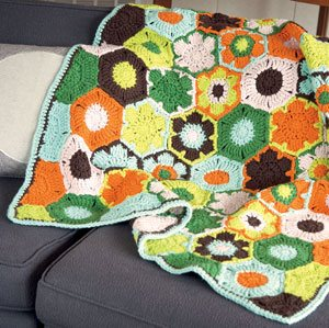 Dots and Poppies Baby Blanket by Linda Permann | CrochetMe.com