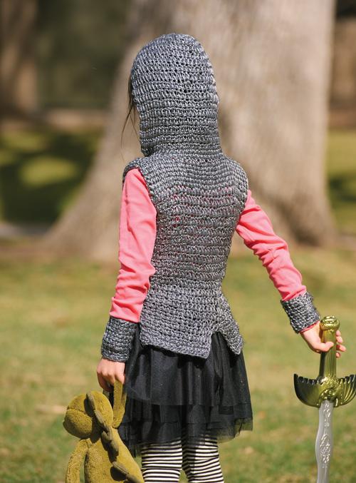 Back of the Dragon Slayer Crochet Tunic