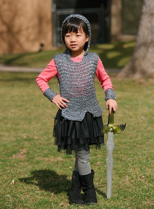 Front of Dragon Slayer Crochet Tunic