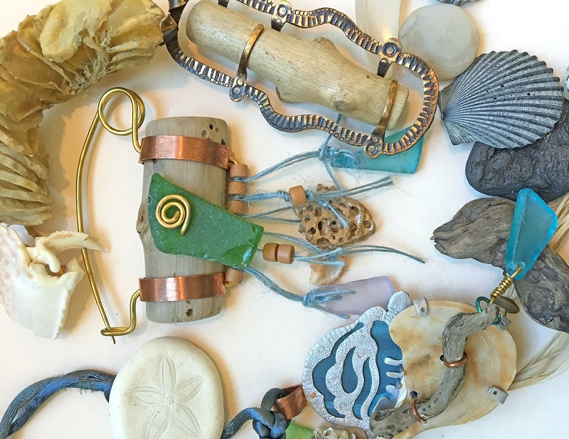 Helen Driggs metalsmithing cllasses Bead Fest beachcombing sea glass jewelry making