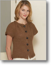 This top-down crochet sweater is easy and warm.