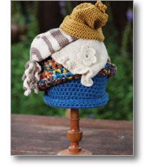Goldilocks' Family of Hats Crochet Pattern.