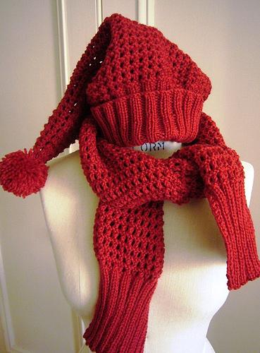 Elfin Hat knitting pattern Elfin scarf knitting pattern